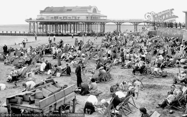 Cleethorpes, the Beach and Pier c1955
