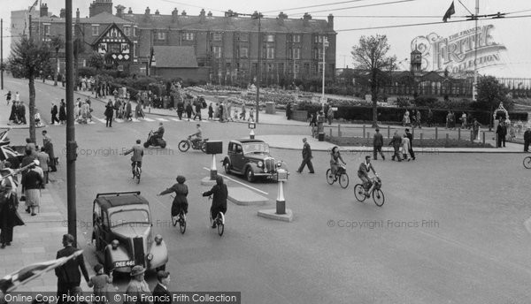 Cleethorpes, the Gardens and Sea Road c1955