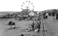 Cleethorpes, the Promenade and Beach c1955