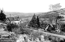 Cleeve Hill, The Church And Main Road c.1955