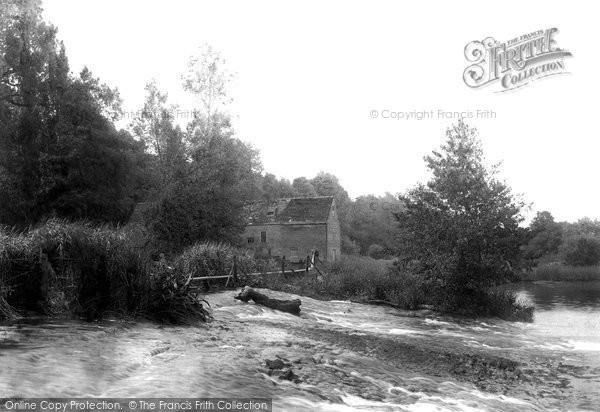 Bidford-on-Avon,Cleeve Mill on the Avon 1901,Warwickshire