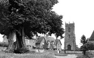 Cleeve Prior, The Green And St Andrew's Church c.1955