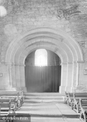 Cleobury Mortimer, St Mary's Church, The Norman Arch 1954