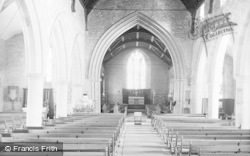 Cleobury Mortimer, The Church Interior c.1955