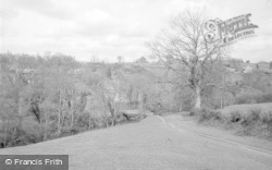 The Papermill Bridge And River c.1950, Cleobury Mortimer