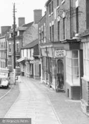 Cleobury Mortimer, The Savoy Cafe, High Street 1954