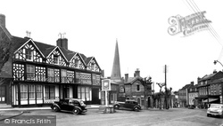 The Talbot Hotel And Church Street 1954, Cleobury Mortimer