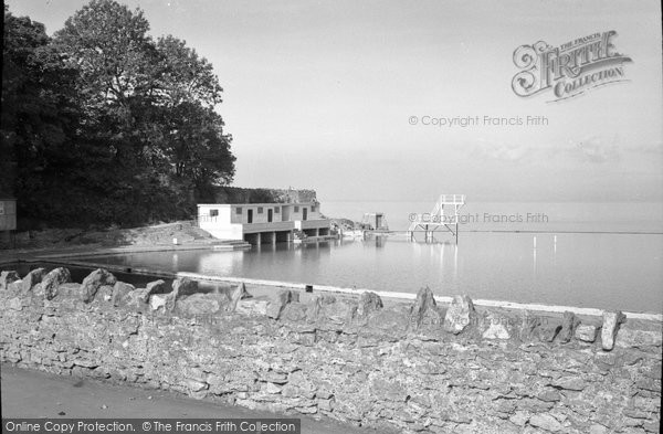 Photo of Clevedon, The Bathing Station c.1955