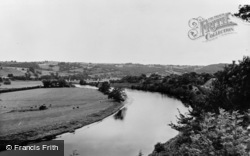 Clifford, River Wye From The Castle c.1960