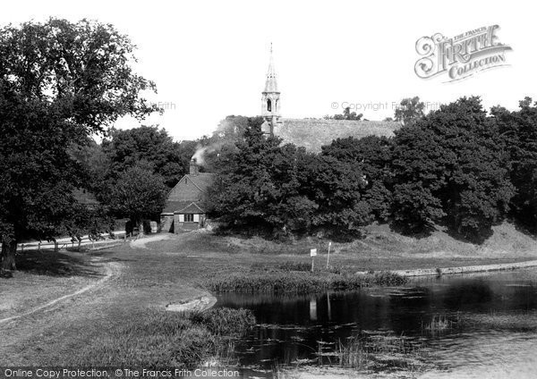 Photo of Clifton Hampden, From Bridge 1890