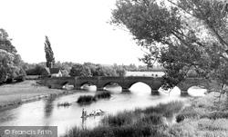 Clifton Hampden, The Bridge From The Church c.1960