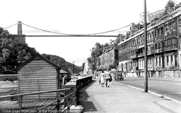 Clifton, Hotwells and the Suspension Bridge c1950