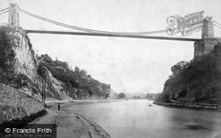 Clifton, The Bridge From Below 1887
