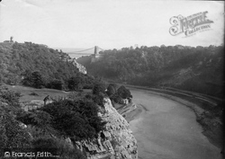 Clifton, The Bridge From The Downs 1887