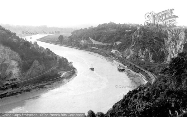 Photo of Clifton, The River Avon From Downs 1887
