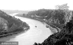 Clifton, The River Avon From Downs 1887