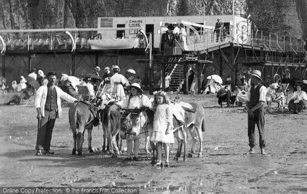 Photo of Cliftonville, Donkey Rides 1908