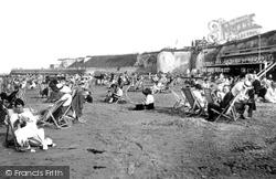 Cliftonville, Walpole Bay Sands And Pettman's Bathing Platform 1918