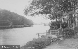 Clitheroe, A View On The Ribble 1894