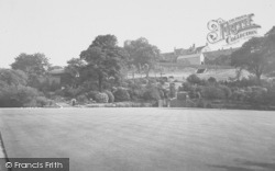 Clitheroe, The Bowling Green And Castle c.1960