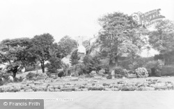 Clitheroe, The Castle Gardens c.1960