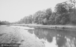 Clitheroe, The River Ribble c.1955