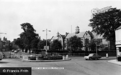 Clitheroe, The Roundabout And School c.1960