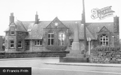 Cloughton, The Memorial And School c.1955