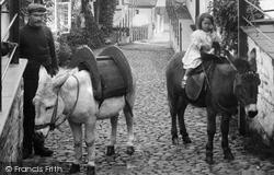 Clovelly, Donkeys In The Street 1908