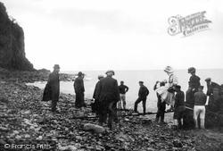 Clovelly, Landing From Steamer 1908