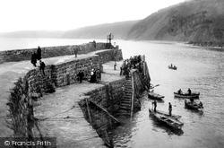 Clovelly, Passengers Landing On The Quay 1908