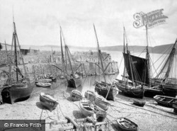 Clovelly, Pier And Fishing Boats c.1872
