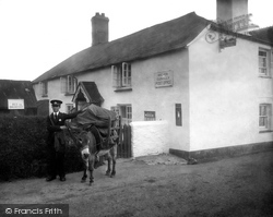 Clovelly, Post Office And Postman 1936