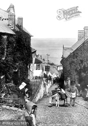 Clovelly, The Street, Looking Down 1890