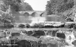 The Bridge And Cascade c.1955, Clumber Park