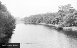 The View From The Bridge c.1955, Clumber Park