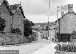 Clun, Church Street c.1950