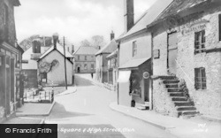 Clun, Square And High Street c.1955