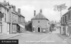Clun, Square And Town Hall c.1955