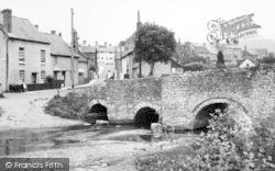 Clun, The Bridge And Bridge Street c.1960