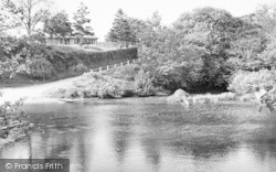 Clun, The River c.1960