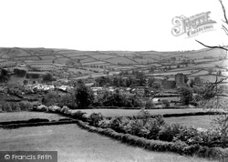 Clun, View From The Mowdens c.1950
