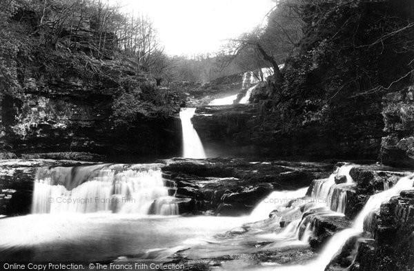 Photo of Clungwyn Falls, Middle Fall 1898