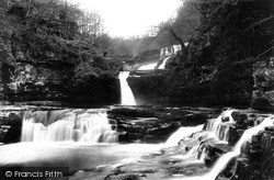 Clungwyn Falls, Middle Fall 1898