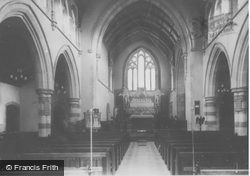 St Mary's Church Interior c.1960, Clydach