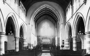 Clydach, St Mary's Church interior c1960