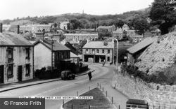 Clydach, The High Street And Hospital c.1955