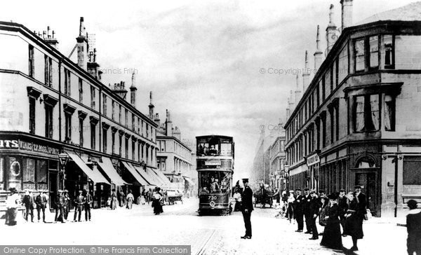 Photo of Clydebank, Glasgow Road c.1900