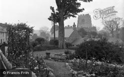 Saint Beuno Hotel, The Garden c.1933, Clynnog-Fawr