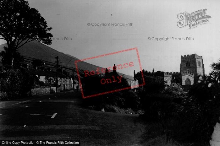 Clynnogfawr, the Village and Church c1955